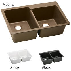 Elkay ELG250R E-granite 33x22-in Double-bowl Top Mount Sink