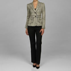 Anne Klein Women's Tweed Jacket Pant Suit
