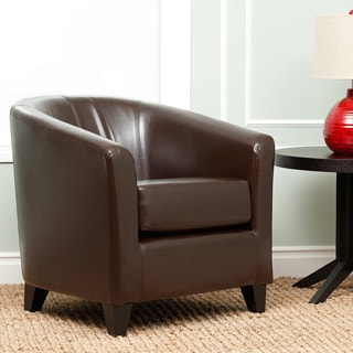 Abbyson Living Montecito Dark Brown Leather Armchair