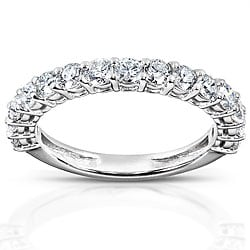 14k White Gold 1ct TDW Diamond Wedding Band (H-I, I1-I2)