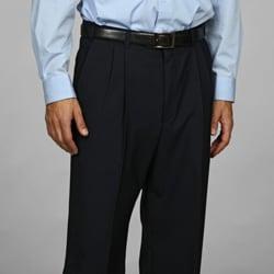 Austin Reed Men's Navy Pleated Dress Pants