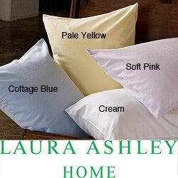 Laura Ashley Solid Flannel Sheet Set