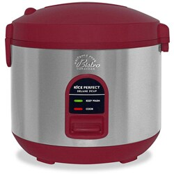 Puck red heavy duty 10 cup rice cooker with wp recipes refurbished