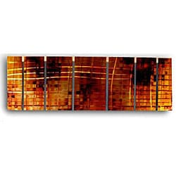 Ash Carl 'Interchange' 7-panel Metal Wall Art
