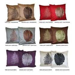 Banana or Fern Leaf Decorative Pillow