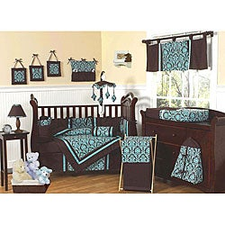 Sweet Jojo Designs Brown and Turquoise 9-piece Crib Bedding Set