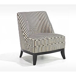 Retro Tuxedo Stripe Club Chair