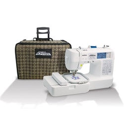 Brother LB6800PRW Project Runway Sewing/Embroidery Machine with Bonus Rolling Tote