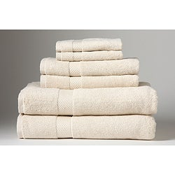 Turkish Organic Cotton Ecru 6-piece Towel Set