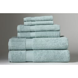 Turkish Organic Cotton Dreamy Blue 6-piece Towel Set