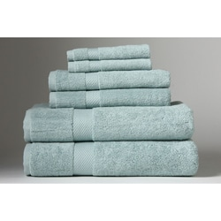 Turkish Organic Cotton 6-piece Towel Set Dreamy Blue