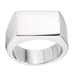 West Coast Jewelry Stainless Steel Square Face Ring