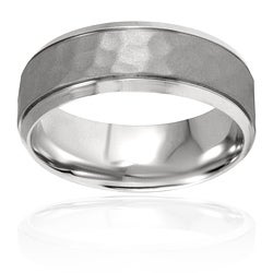 West Coast Jewelry Stainless Steel Polished Textured Ring