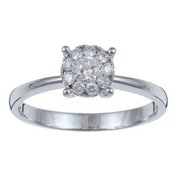 14k White Gold 1/3ct TDW Diamond Ring (I-J, I1-I2)