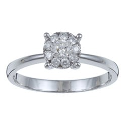 Kabella 14k White Gold 1/3ct TDW Diamond Ring (I-J, I1-I2)