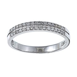 10k White Gold 1/4 TDW Two Row Diamond Ring (G-H, I1-I2)