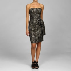 Maggy London Print Taffeta Dress