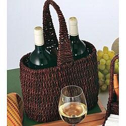Abaca 2-wine Bottle Holder