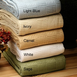 Panda Cotton/ Rayon from Bamboo Blend Full/ Queen-size Blanket