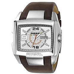 Diesel Men's Stainless Steel and Brown Leather Watch