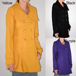 Institute Liberal Women's Double-breasted Envelope Collar Coat