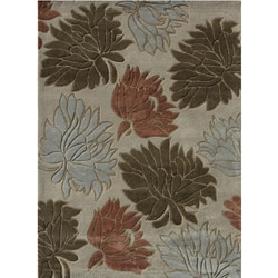 Hand-tufted Chalice Beige/ Multi Floral Rug (5' x 7'6)