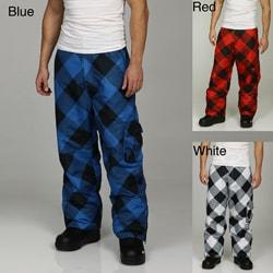 Pipeline Men's Buffalo Plaid Snowboard Pants