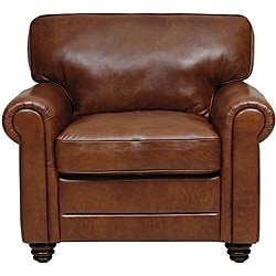 Alexi Havana Top Grain Italian Leather Chair.