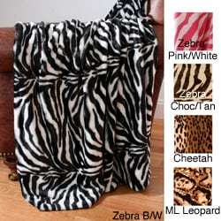 Animal Print Sealskin Throw