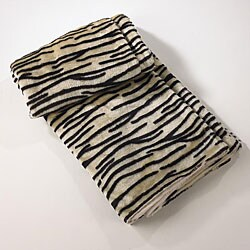 Tiger Print Ivory Throw