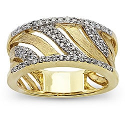 10k Two-tone Gold 1/3ct TDW Diamond Fashion Ring (H-I, I1)