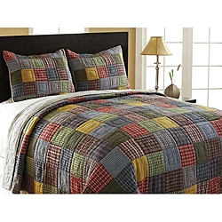 Caftan 3-piece King-size Reversible Quilt Set