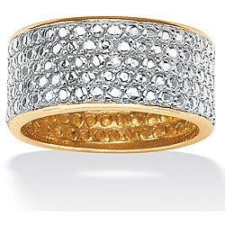 Isabella Collection 10k Gold over Silver Diamond Accent Pave Band
