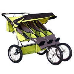 BeBeLove Green Triple Jogging Stroller