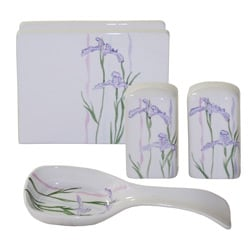 Corelle 'Shadow Iris' 4-piece Completer Set