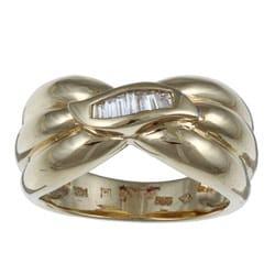Kabella 14K Yellow Gold 1/6ct TDW Diamond Ring (H-I, I1-I2) (Size 7.25)