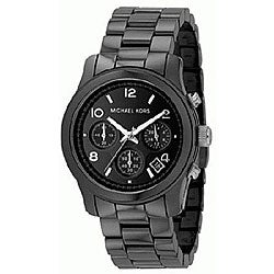 Michael Kors Women&#39;s MK5162 Black Chronograph Ceramic Bracelet Watch