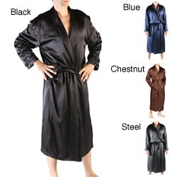 Classic Men&#39;s Long Satin Lounge Robe