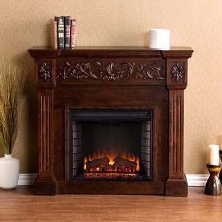 Harper Blvd Wellington Espresso Electric Fireplace