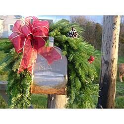 Fresh Balsam Wreath Mailbox Hugger