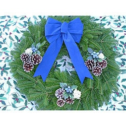 Fresh Country Blueberry 24-inch Balsam Wreath
