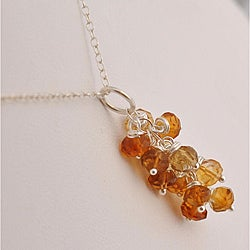 Sterling Silver Citrine Cascade Necklace