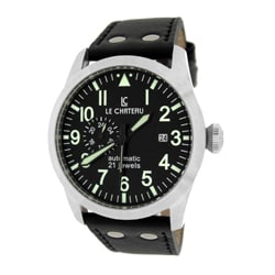 Le Chateau Men's Black Dynamo Automatic Men's Watch