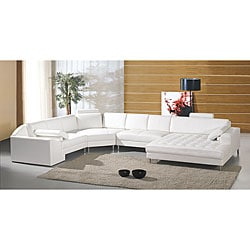 Vacaville 4-piece Leather Sectional Set