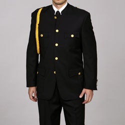 Ferrecci Men's 'Cadet-Uniform' Black Suit
