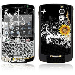 Black Skull BlackBerry Curve 8300 Series Decal Skin