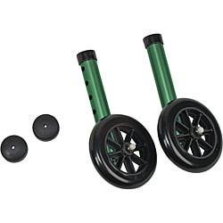 Mabis Green Glide Cap Kit Walker Wheels