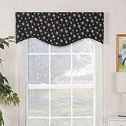 Dandelion Print Shaped Valance