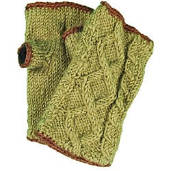 Wool Cable-knit Arm Warmers (Nepal)