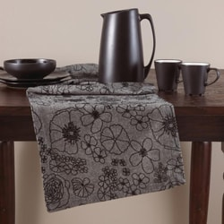 Grey Floral 16x72-inch Table Runner